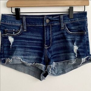 Abercrombie Fitch Denim Cut Off Jean Short SZ 0